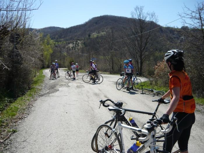 Anstrengend und hart eine 145 km Tour in die Toskana.